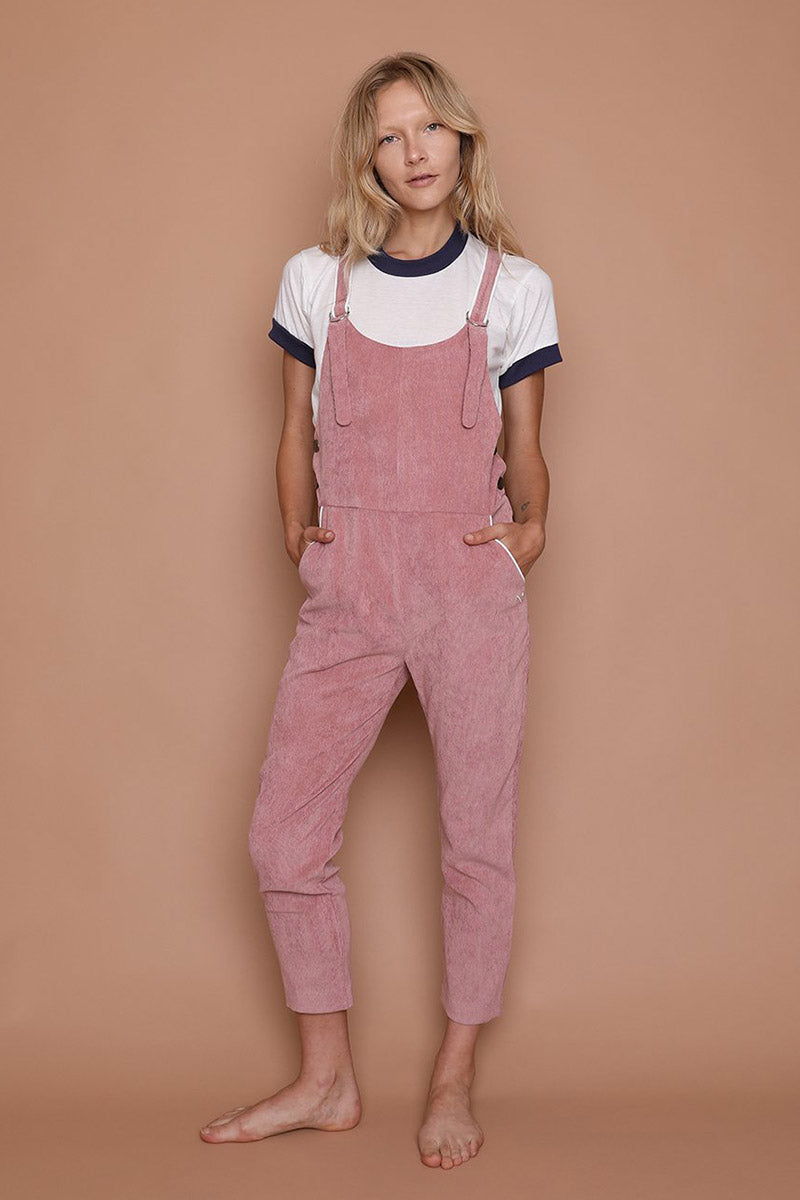 Picture Day Overalls - Dusty Pink