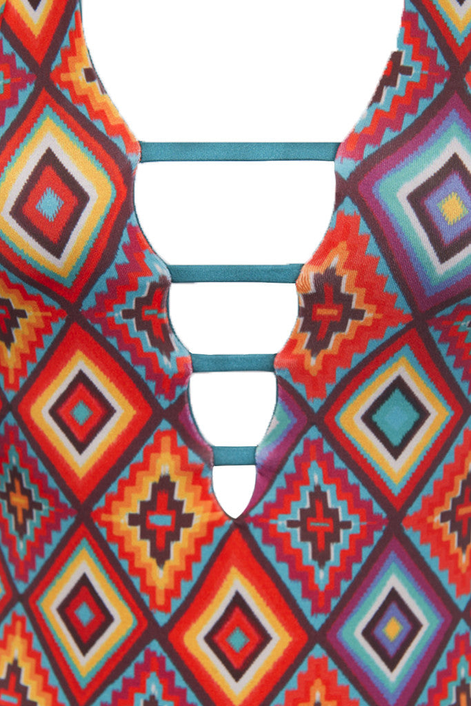 IPANEMA Reversible Strappy One Piece One Piece   Southwest/Pacific Green