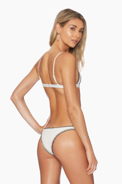 Daniela Fitted Brazilian Bikini Bottom - Ivory Texture
