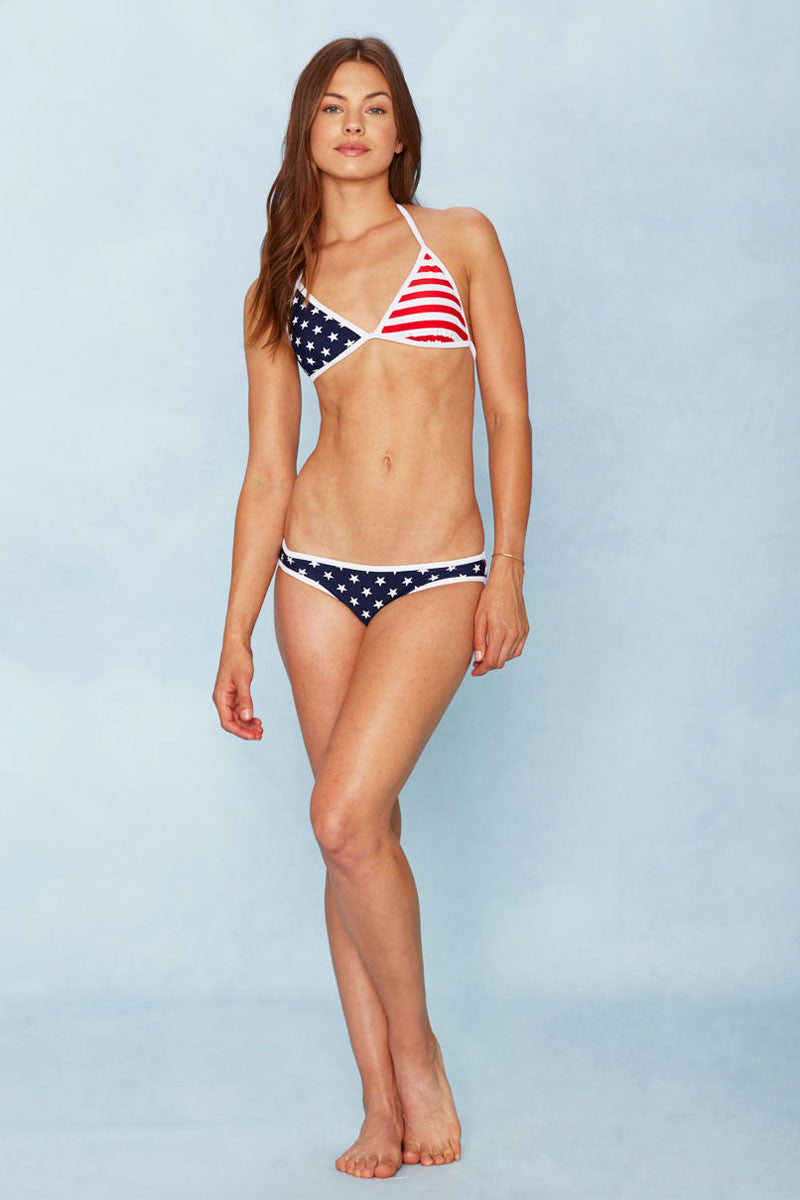 BEACH JOY Flag Top Bikini Top | Stars and Stripes|