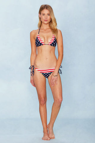 BEACH JOY America Triangle Top Bikini Top | Stars and Stripes|