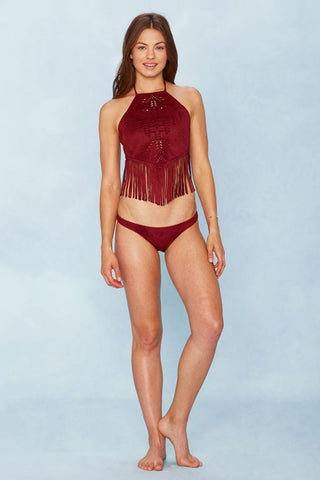 ALE Holy Cow Brazilian Bottom Bikini Bottom | Burgundy