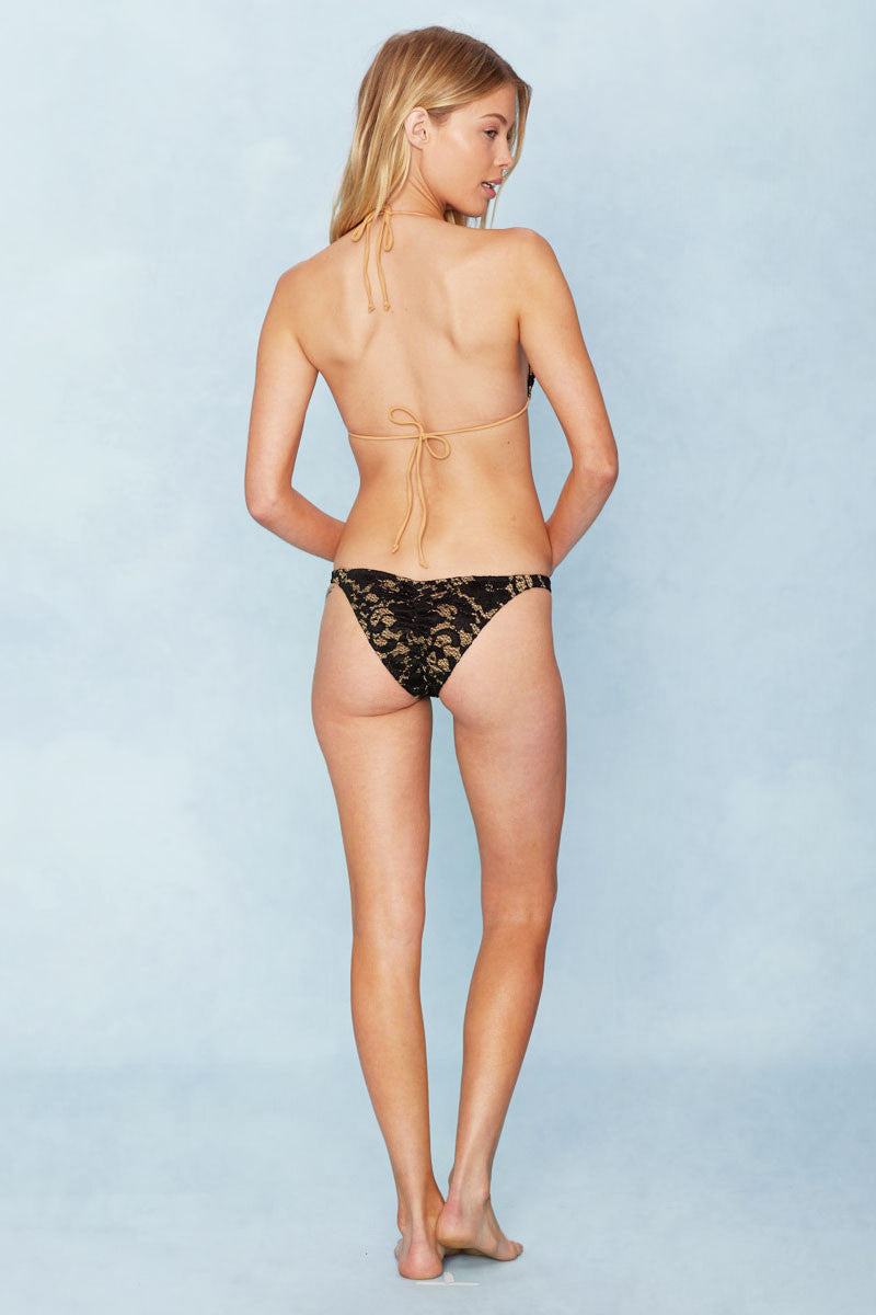 NO STRINGS ATTACHED Classic Lace Top Bikini Top | Black Lace|