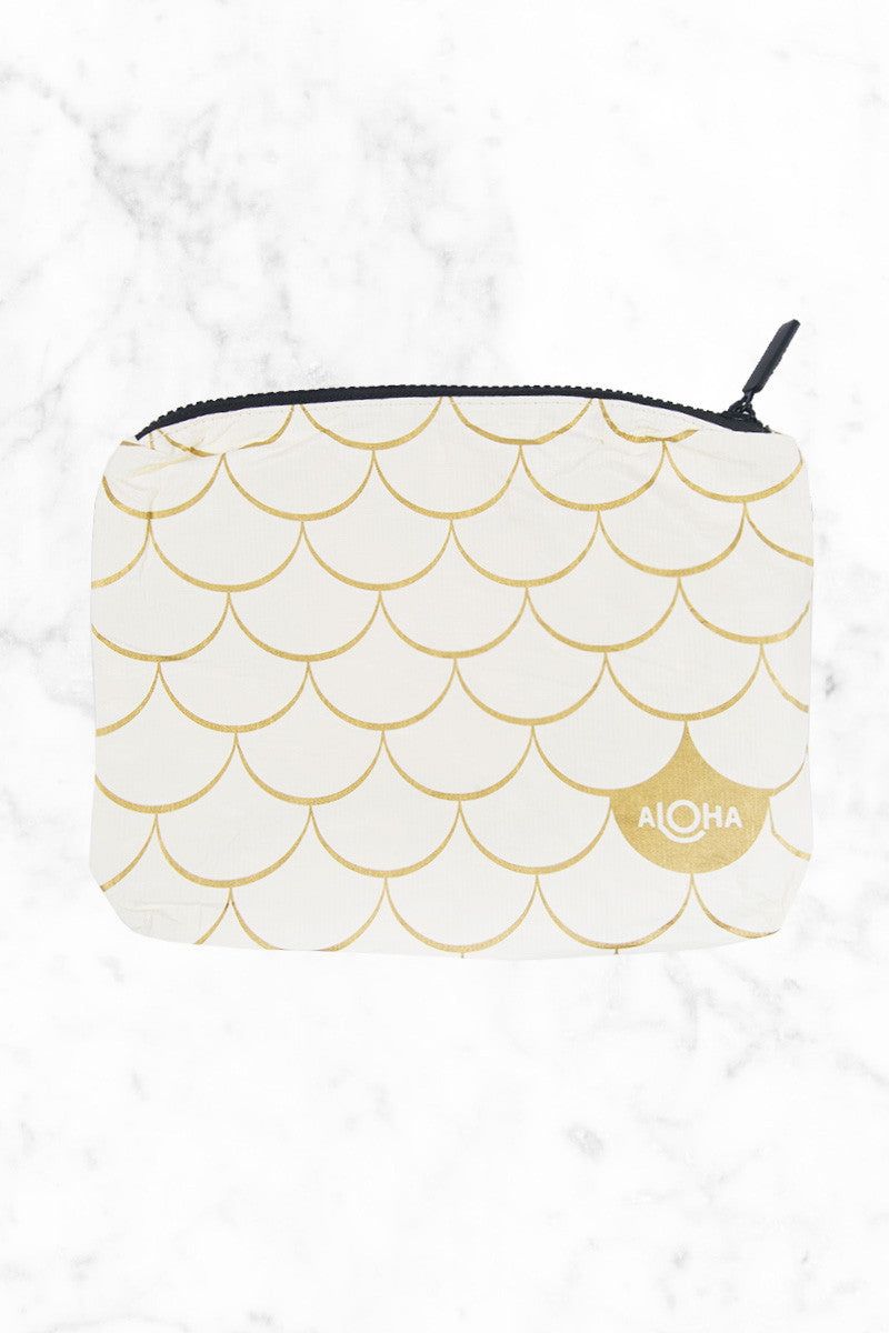 ALOHA COLLECTION Mermaid Tote | Gold/Black| Aloha Collection Mermaid