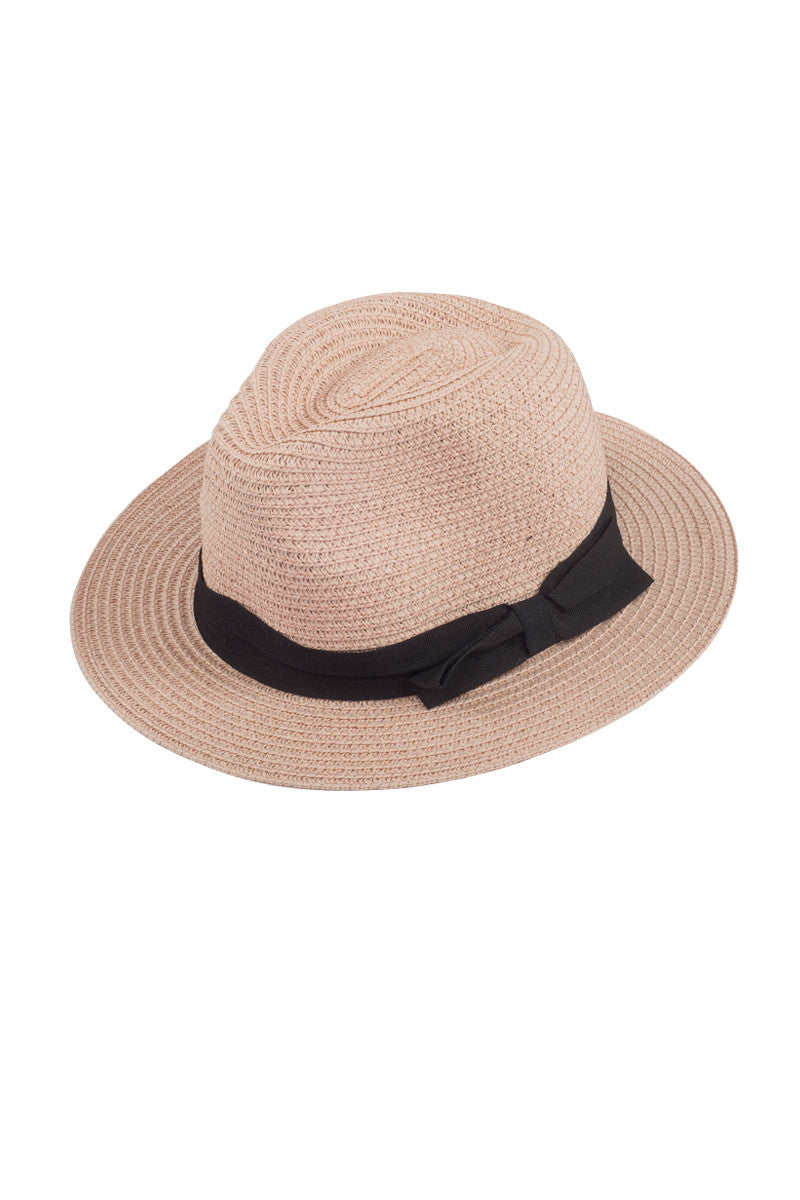 BIKINI.COM Fedora With Ribbon Hat | light pink|