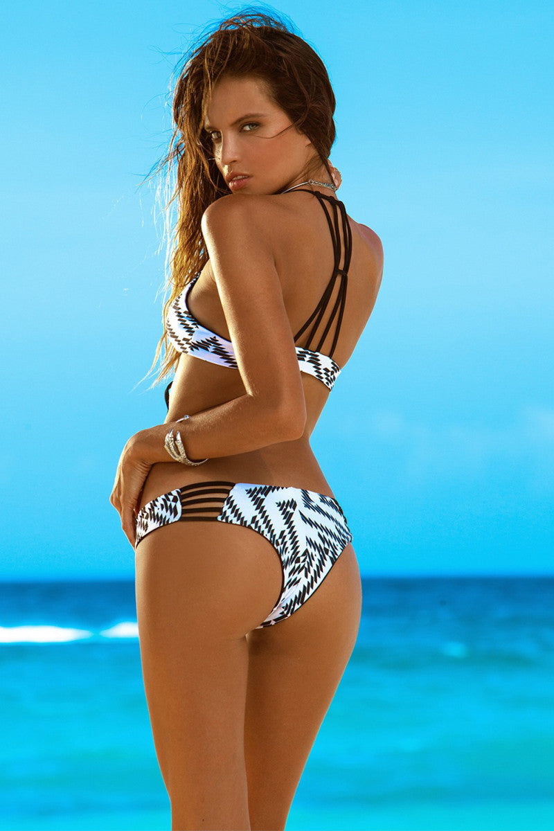 KHONGBOON Indre Bottom Bikini Bottom | Black and White/Black|