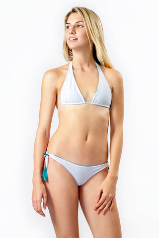 IPANEMA Reversible Tear Drop Top Bikini Top | Seagull/White|