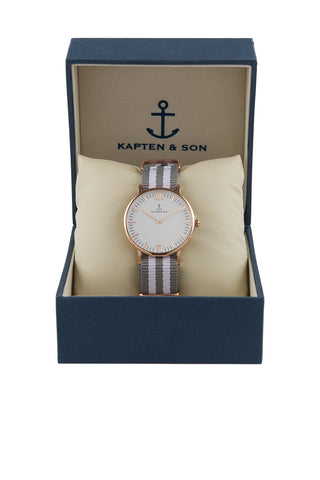 KAPTEN AND SON Space Campina Watch Accessories | Silver/White| Kapten & Son Gray Space Campina Watch