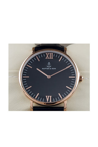 KAPTEN AND SON All Black Campus Watch Accessories | Black| Kapten & Son All Black Campus Watch