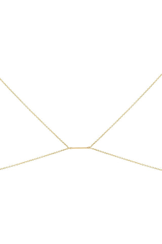 LOVE ME KNOTS Bra Body Chain Jewelry | Gold|