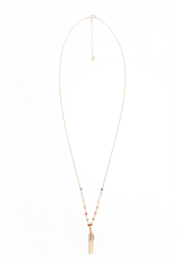 MAILEE Multi Stone Necklace Jewelry | Gold|