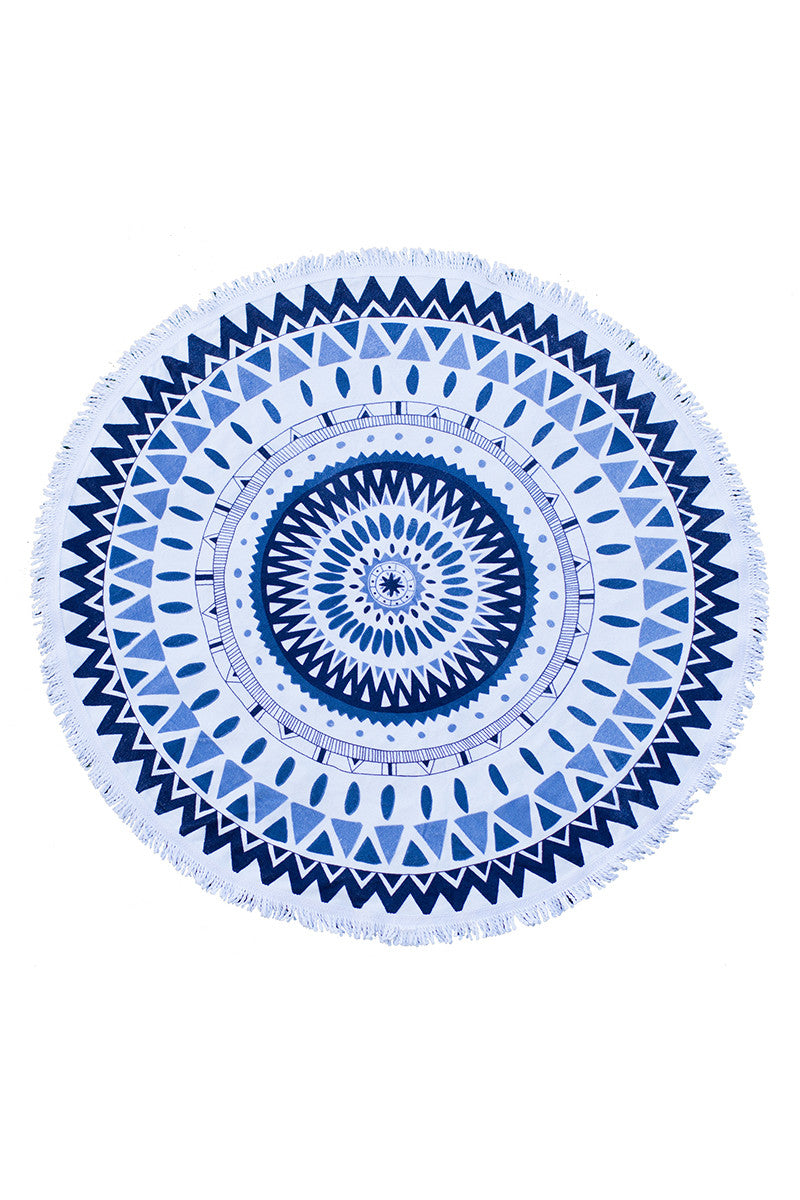 THE BEACH PEOPLE Majorelle Round Towel Accessories | Majorelle|