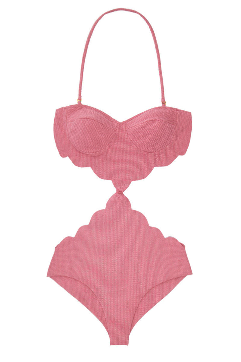 Lafayette Cut-Out Monokini One Piece Swimsuit - Peony Pink