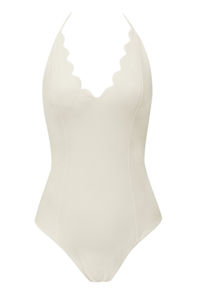 MARYSIA Broadway Maillot One Piece One Piece | Off White/Sunlight Yellow|