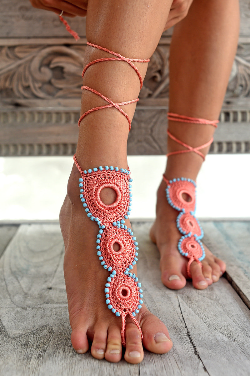 MY BEACHY SIDE Circle of Life Barefoot Sandal Sandals | pink|