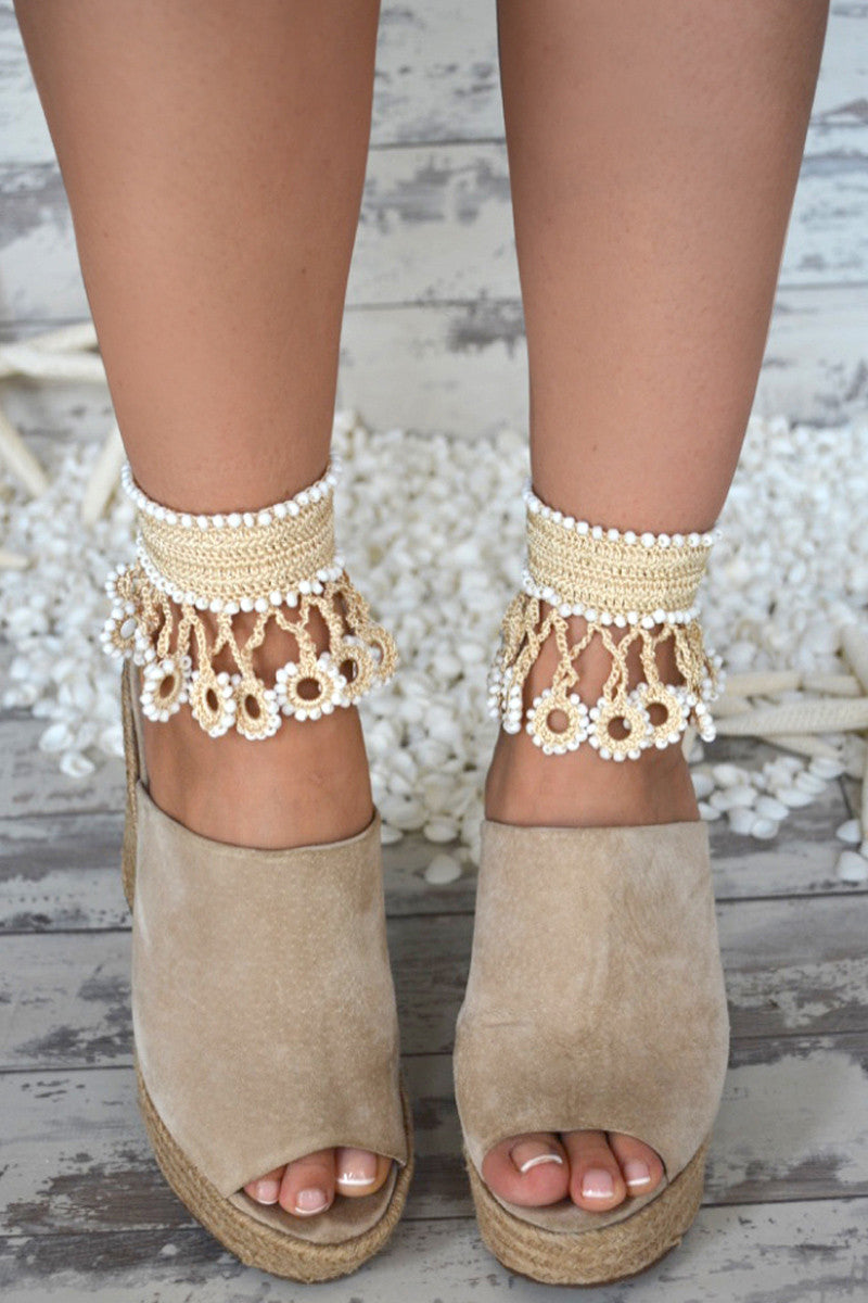 MY BEACHY SIDE Hopi Sun Anklet Shoe | nude|