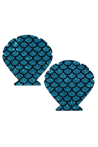 PASTEASE Mermaid Pasties Accessories | turquoise|