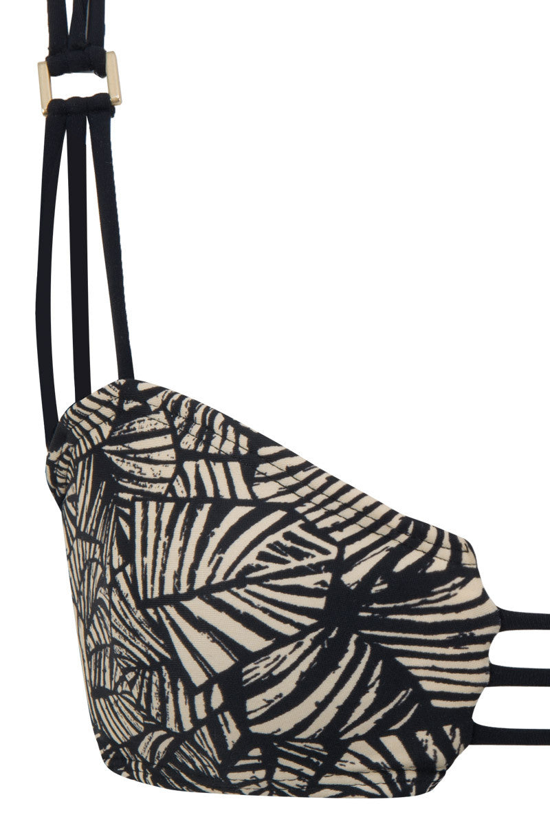 MIA MARCELLE Reina Printed Top Bikini Top | Palm Print