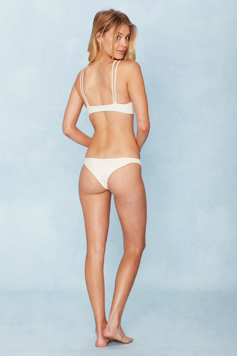 MIKOH Kapa'a Top - Bone Bikini Top | Bone| MIKOH Kapa'a Top Back View Square Neckline Multi-Strap Design at Front Wide Back Band Seamless Hardware-Free Double Lined As Seen on Whitney Port