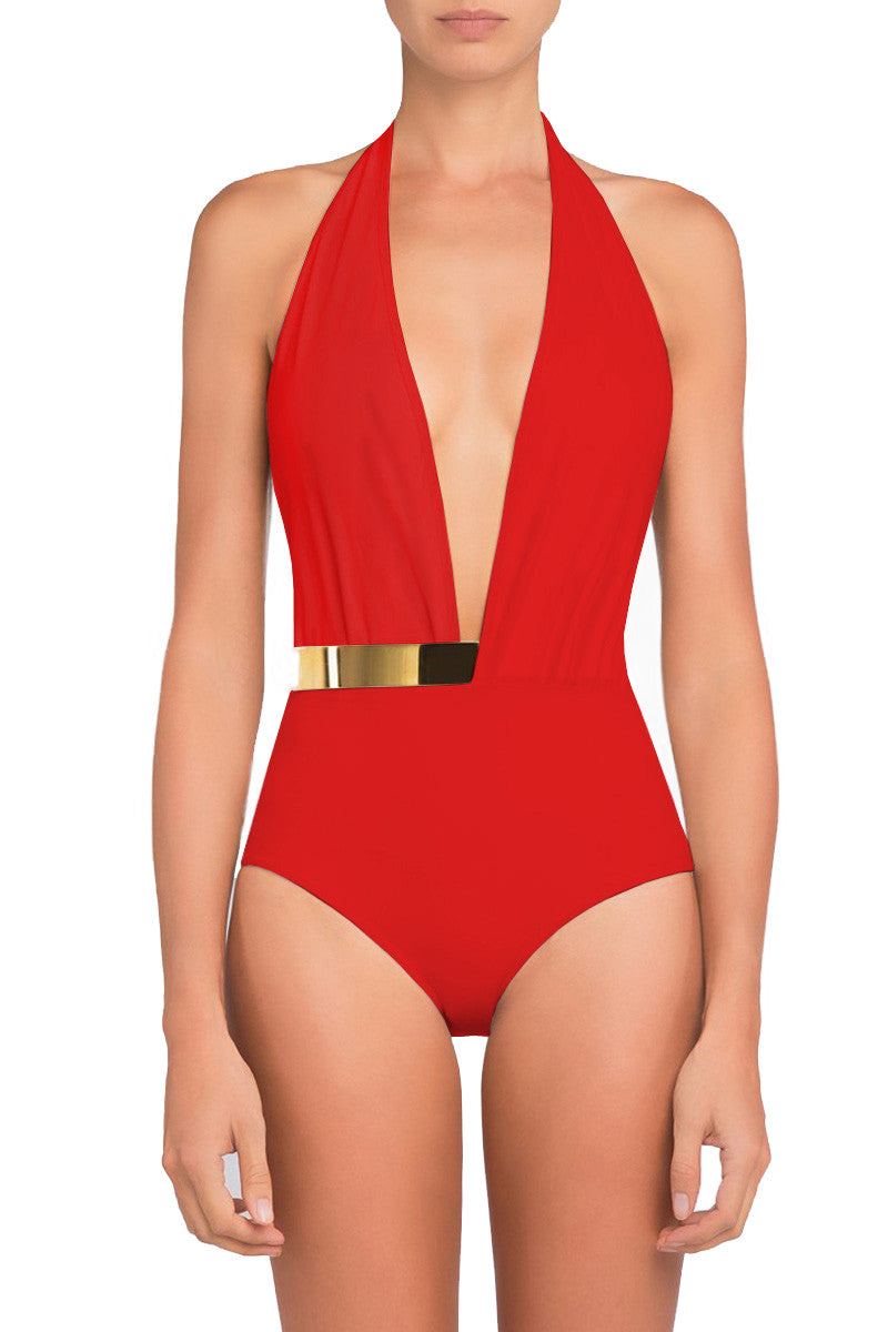 Red Bridget One Piece Swimsuit