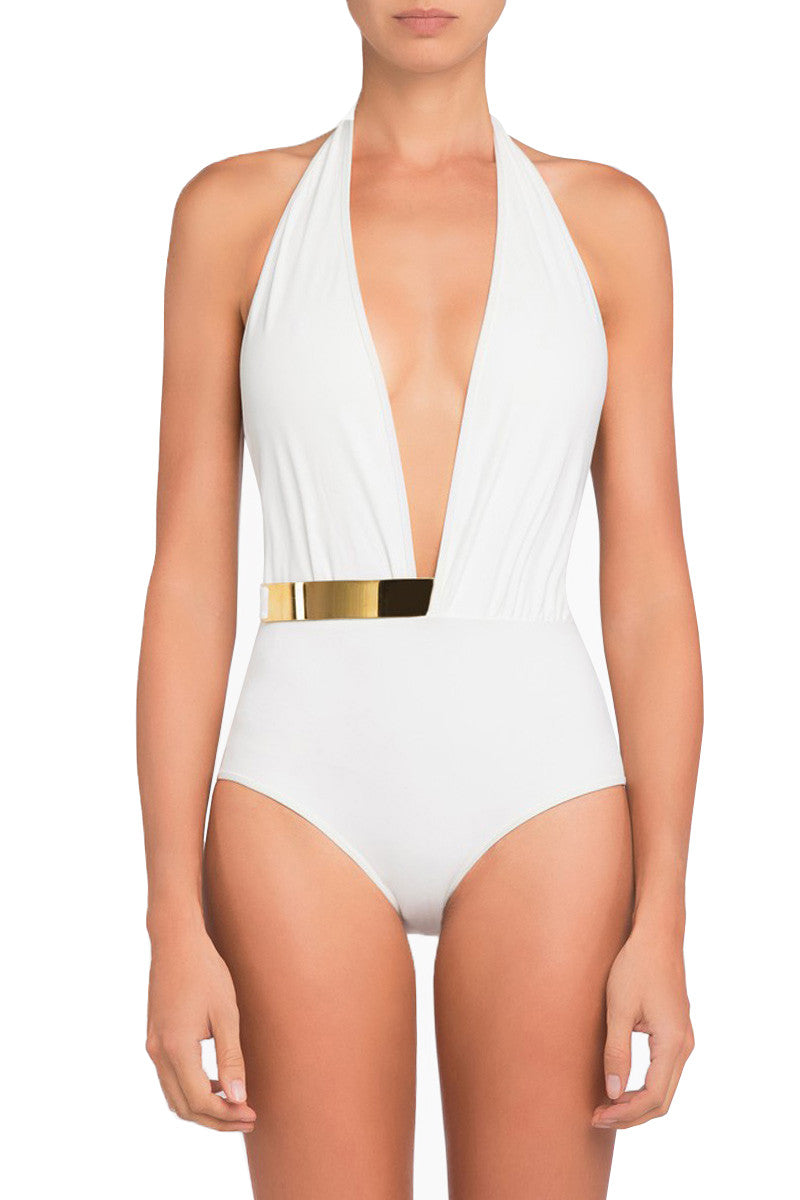 White Bridget One Piece Swimsuit