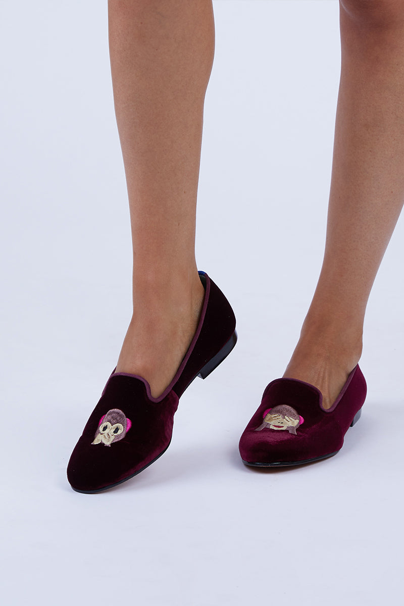 Monkey Loafer - Maroon Red