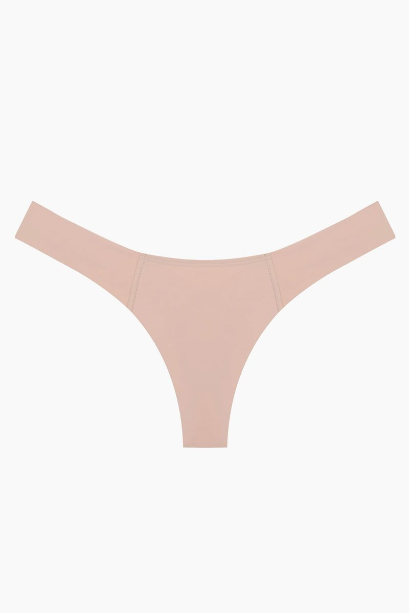Uno Brazilian Cut Scrunch Bikini Bottom - Pastel Peach