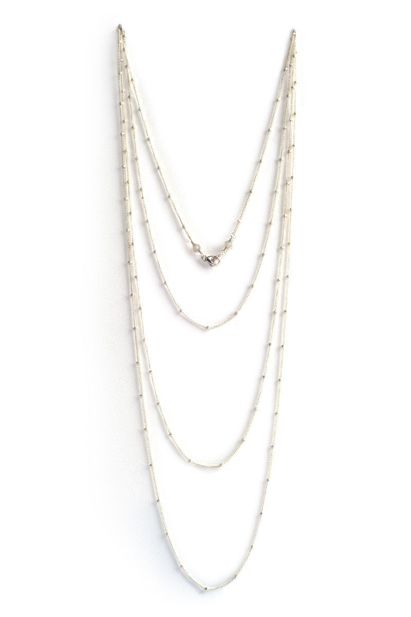 MAILEE Wrap Necklace Accessories | Silver|