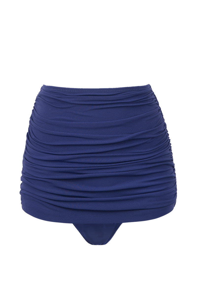 Bill High Waist Bikini Bottom - Midnight Blue