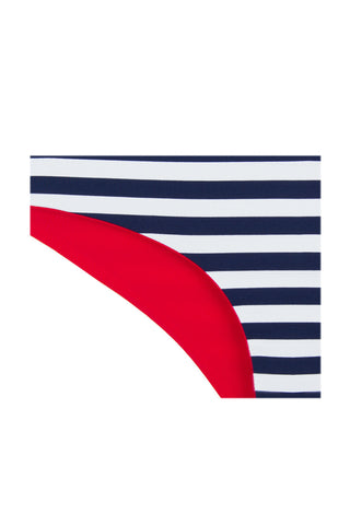 KHONGBOON Prato Reversible Bottom Bikini Bottom | Blue and White/Red