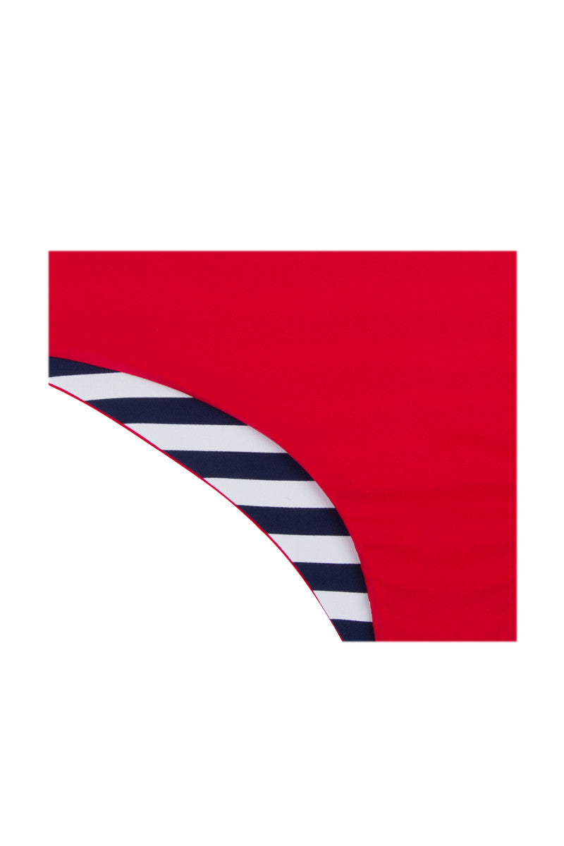 KHONGBOON Prato Bottom Bikini Bottom | Blue and White/Red