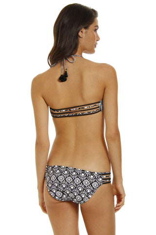RAISINS Strappy Cocoa Beach Bottom Bikini Bottom | Rasta|Makeyla