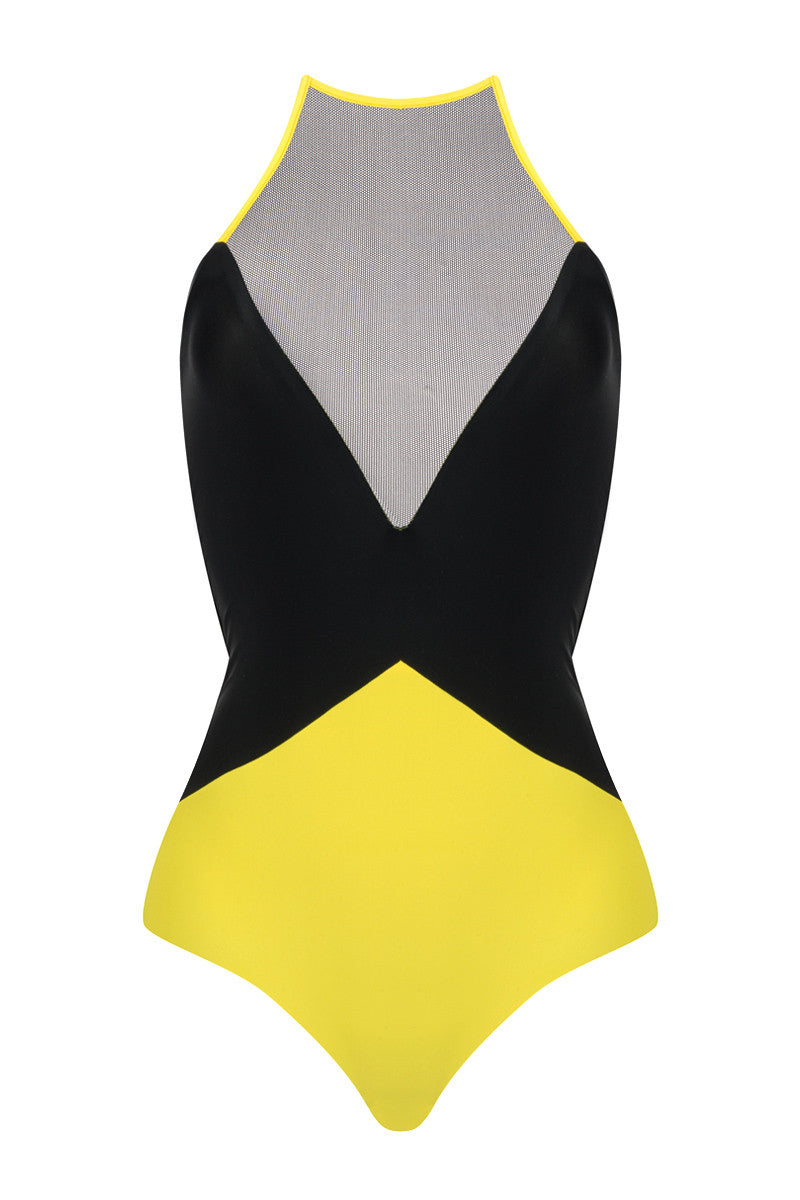 KHONGBOON Ravello One Piece One Piece | Yellow and Black Reversible|