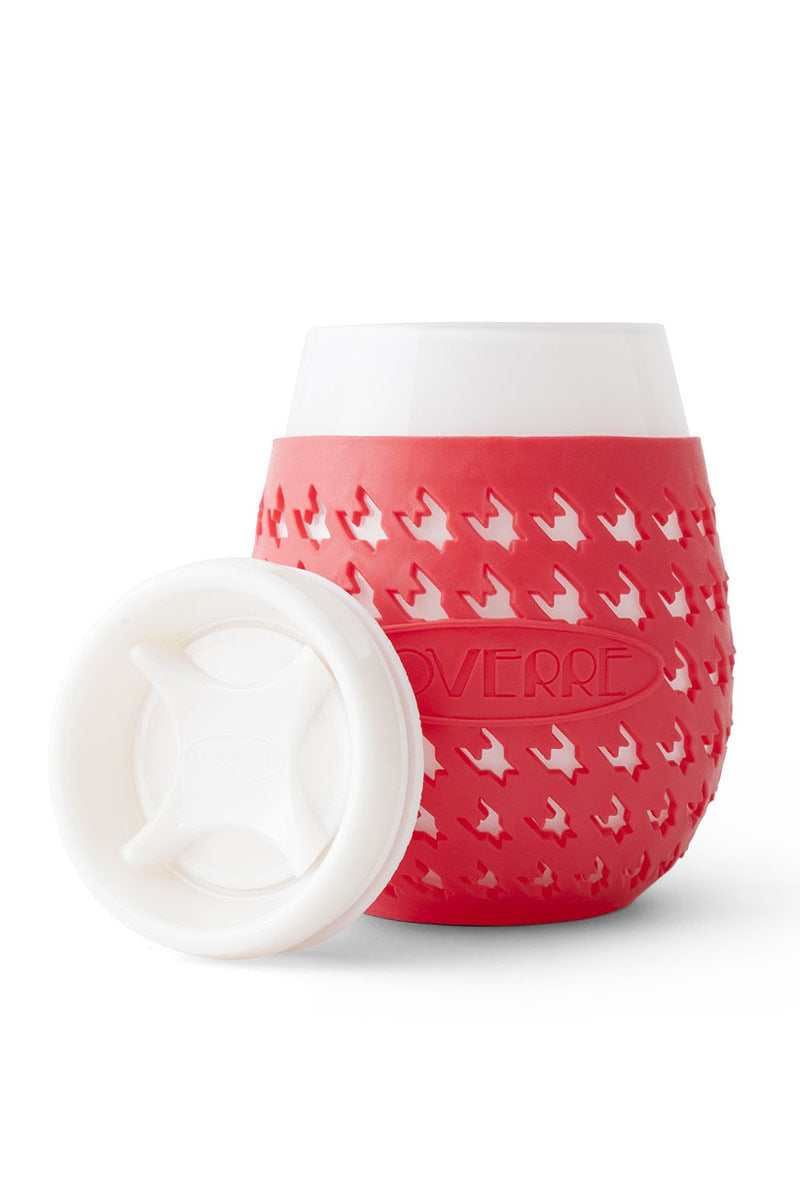 Wine Glass Sippy Cup - Red