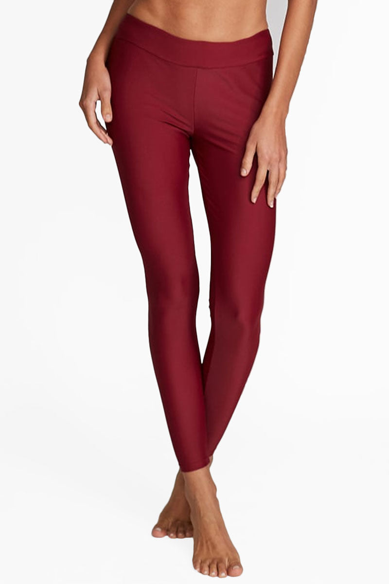 Marissa High Rise Leggings - Maroon Red