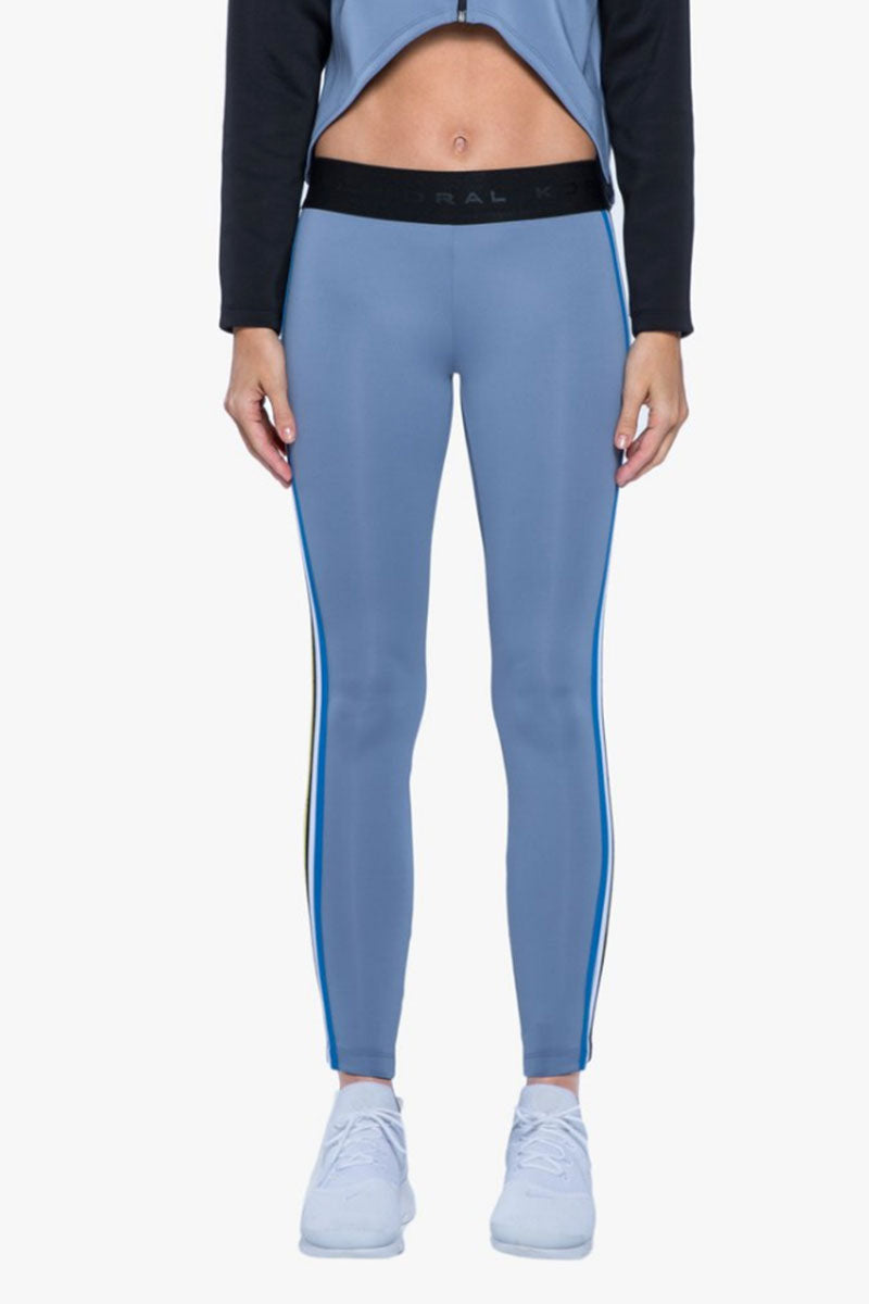 Rhys Color Block Mid Rise Leggings - Nova Blue/Black