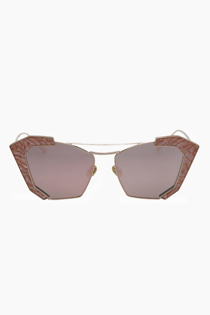 f1b06d47b92c ... I-SEA Salty Arrow Sunglasses - Rose Gold Milky Pink - undefined  undefined