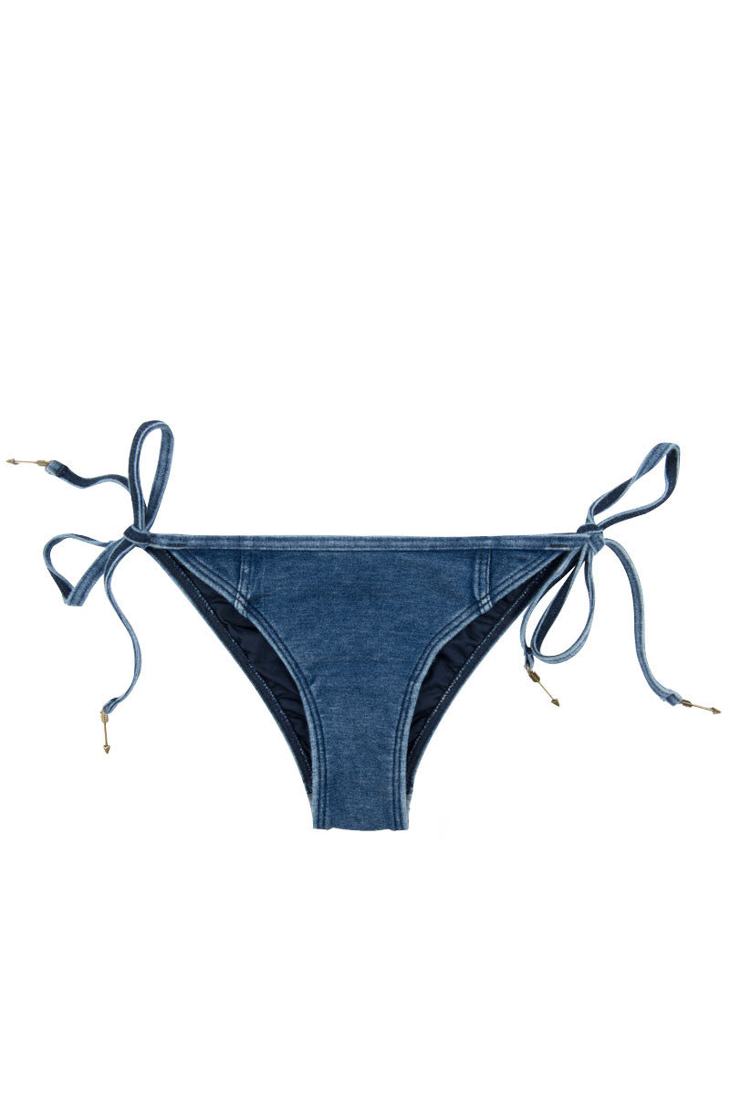 Deja Blue Brazilian Bikini Bottom - Denim