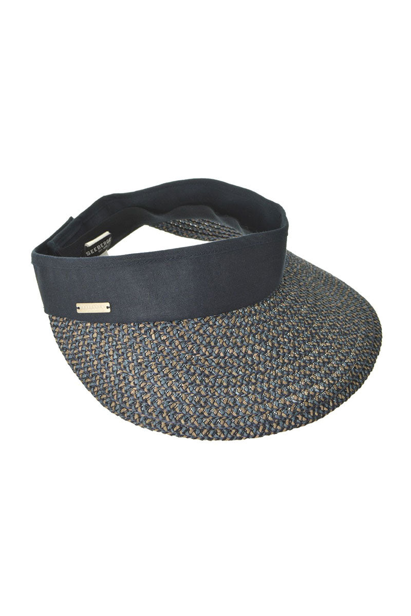 Visor In Multi Braid - Jeans Blue/Taupe