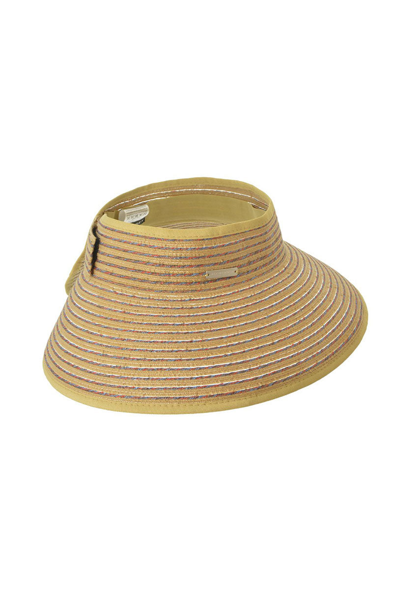 Visor With Big Brim - Natural Straw