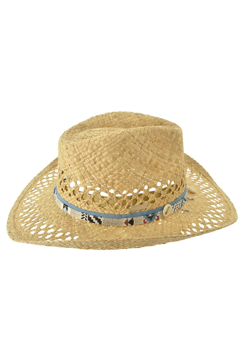 Cowboy Hat In Raffia - Natural Straw