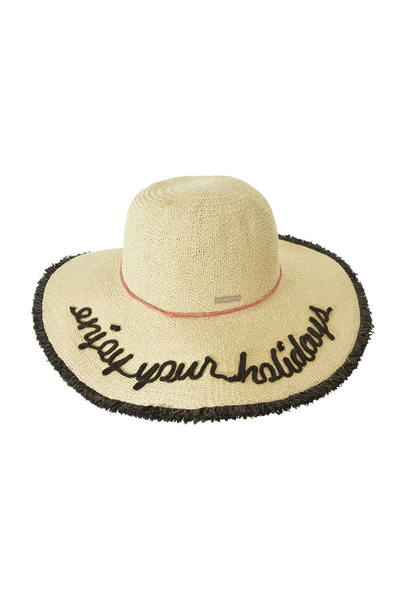Flapper With Fringed Brim - Natural Straw
