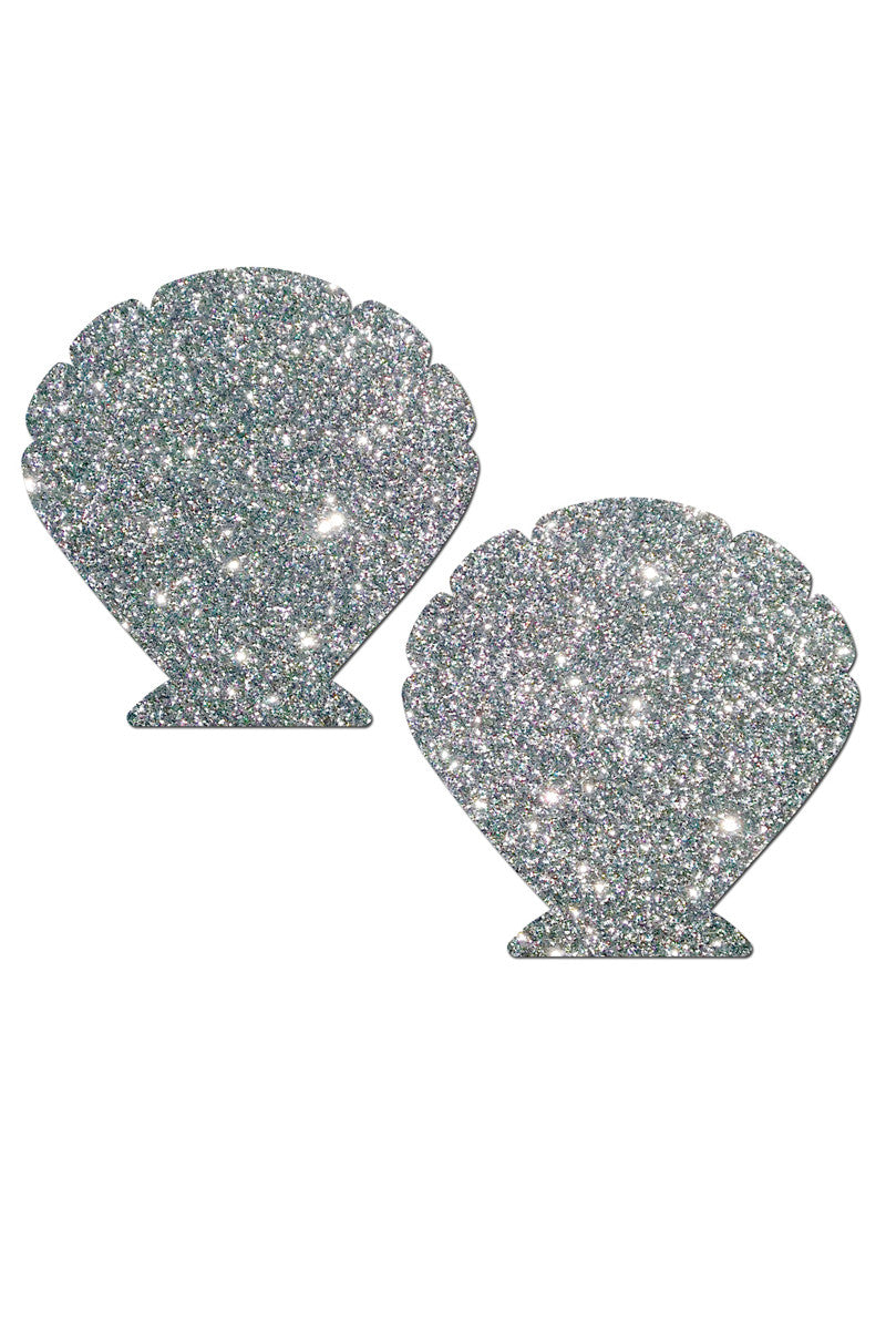PASTEASE Sheshell Pasties Accessories | Silver Shimmer|