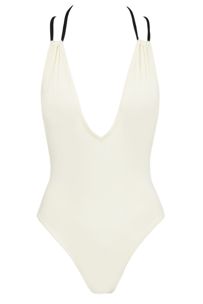 SOLID & STRIPED The Alexandra One Piece One Piece | Cream