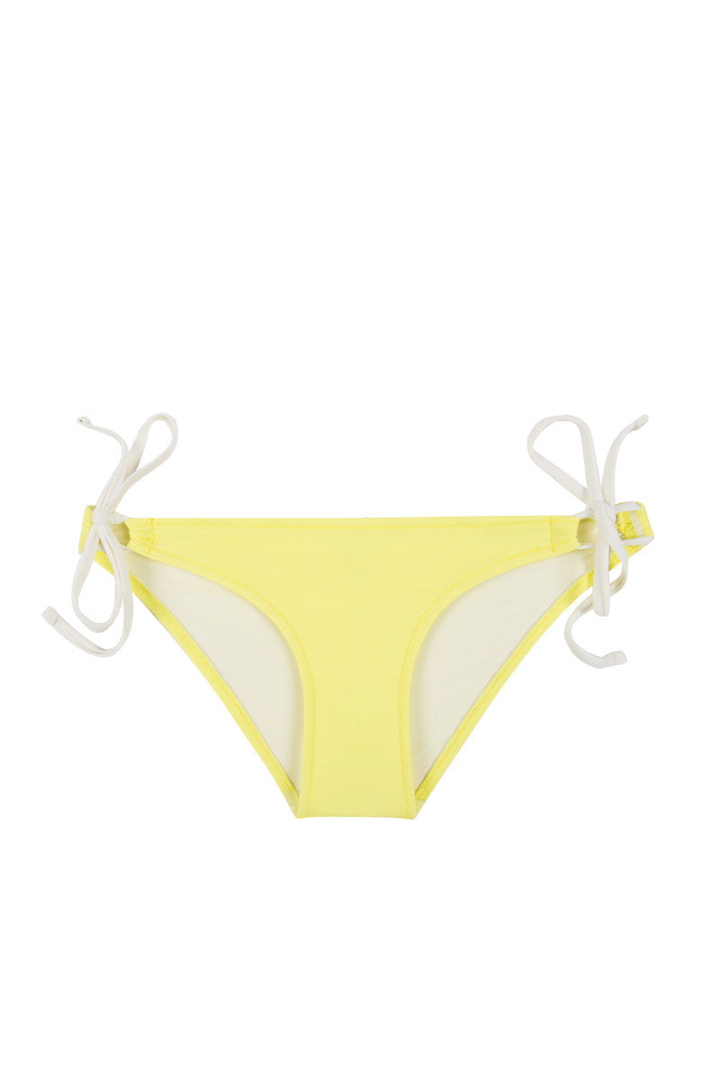 The Lily Double Strap Bikini Bottom - Solid Yellow