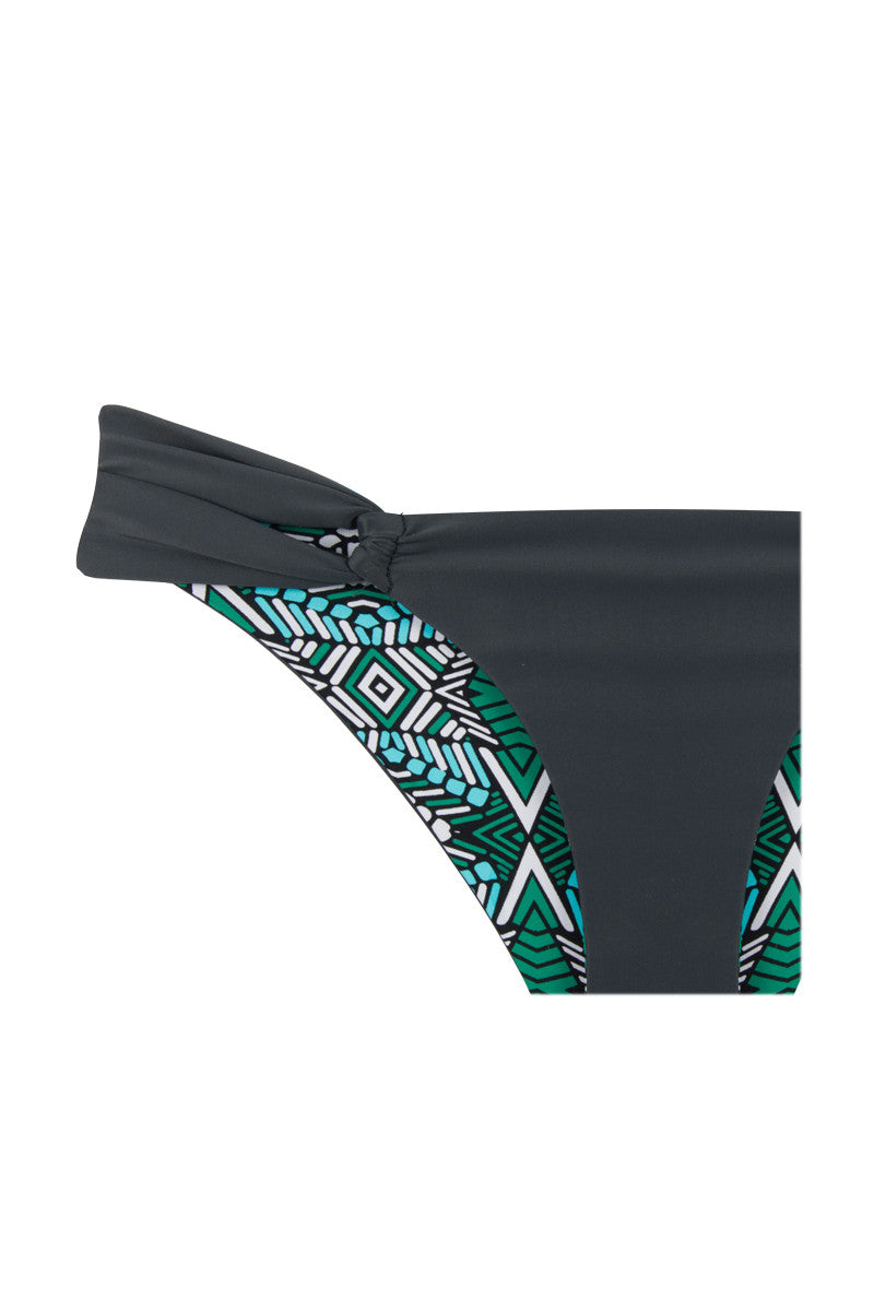 KHONGBOON Split Bottom Bikini Bottom | Green Print/Grey|