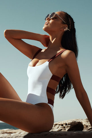 ZIGILANE Shadey One Piece One Piece | White & Merlot|