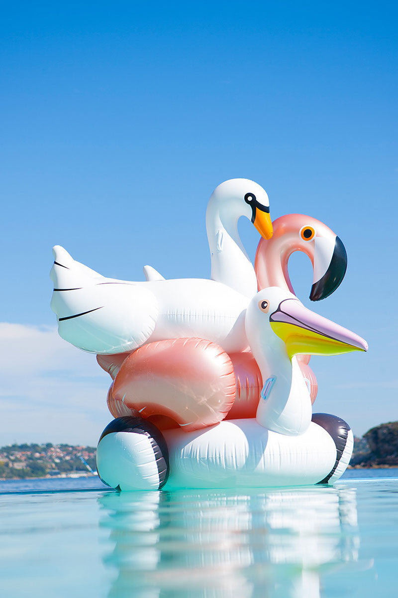 SUNNYLIFE Luxe Flamingo Float Pool Accessories | Rose Gold|Luxe Flamingo Float