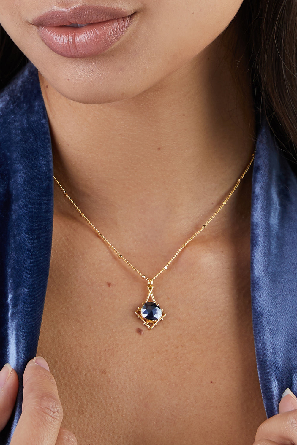 Tempest Necklace - Midnight Blue