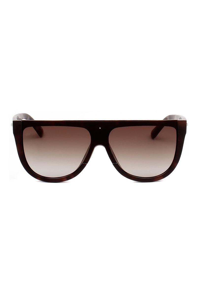 The Coco Oversized Flat Top Sunglasses - Brown Tortoiseshell